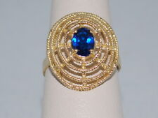 18k Gold ring with a Sapphire(September birthstone) and beautiful design