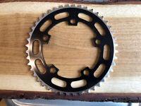 Black Sugino 44T Old School BMX Chain Wheel Ring Raleigh Aero Burner Machined