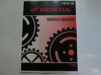 1975 1976 HONDA TL250 TL 250 Service Shop Repair Manual NEW FACTORY HONDA