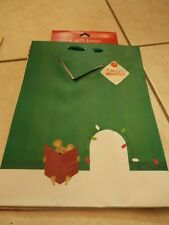 """Lot of 4 bags 2 musical Christmas holiday gift bags 9.75"""" x 7.5"""" free fast ship"""
