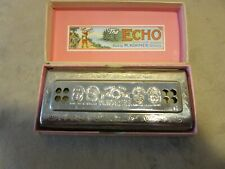 Vintage M. Hohner 'The Echo Harp' Harmonica with Original Box - Made in Germany