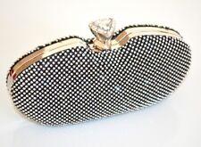 SAC POCHETTE femme noir clutch strass élégant cérémonie mariage fête táska 930