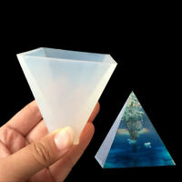 DIY Pyramid Silicone Mold Resin Jewelry Making Mould Epoxy Pendant Craft Tool