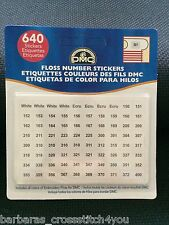 DMC NUMBER  LABEL USE WITH PLASTIC & CARD BOBBINS & STITCHBOWS FREE POST