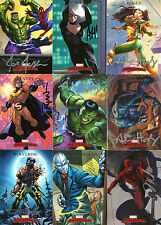 MARVEL MASTERPIECES 07 SET WITH 20 SIGNED CARDS NEAL ADAMS.ADAM HUGHES, ETC (4)