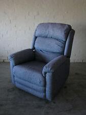 Hospital Blue Big Recliner Chair