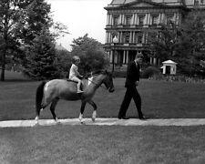 President John F. Kennedy with Caroline and pony Macaroni New 8x10 Photo