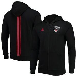 Adidas MLS D.C. United Travel Jacket Black Red 12V4A