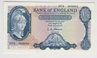 FIRST SERIES B280 L.K.O'BRIEN £5 1961 BANKNOTE H78 IN MINT CONDITION