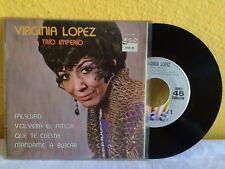 """VIRGINIA LOPEZ Y SU TRIO IMPERIO SELF TITLED MEXICAN 7"""" EP PS BOLERO"""