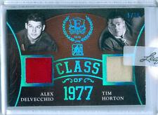 "TIM HORTON ALEX DELVECCHIO ""CLASS 1977 MEMORABILIA /10"" LEAF ENSHRINED HOCKEY 16"