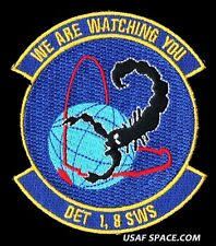 USAF DETACHMENT 1, 8TH SPACE WARNING SQUADRON SBIRS SBTS MISSILE DEFENSE PATCH