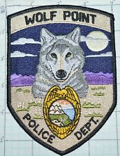 MONTANA, WOLF POINT FORT PECK INDIAN RESERVATION TRIBAL POLICE DEPT PATCH