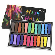 24 HAIR CHALK TEMPORARY HAIR DYE COLOUR SOFT PASTELS SALON KIT UK Seller