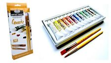 Artists Gouache Paint Set Of 12 + 2 Brushes - By Royal and Langnickel
