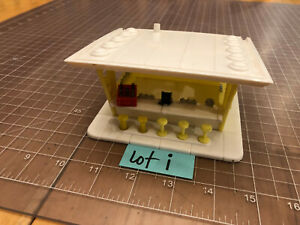 Plasticville O & S Scale FB-1 FROSTY BAR ICE CREAM SHOP Yellow & White  LOT i