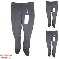 Trussardi pantaloni uomo taglia 46 50 cotone estivi dritto vita alta grigio