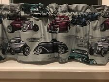 NEW Retro Vintage Old Classic Cars Valance Curtain