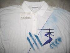 NEW NWT Vintage ADIDAS STEFAN EDBERG Tennis Trefoil Polo Knit SHirt USED LARGE L