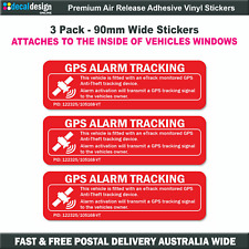 GPS Tracking Car Alarm Warning Decal Stickers fixes to INSIDE of window #G006