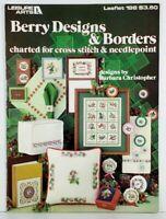 Cross Stitch Berry Designs & Borders Barbara Christopher Leisure Arts Leaflet