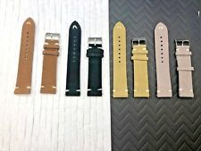 o2 STRAPS (Set of 4) Black,Tan, Brown, Gray Suede Leather watch band 21mm READ
