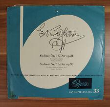 "12"" LP Vinyl Beethoven Sinfonie Nr. 1 + Nr. 7 Josef Duron Jonel Perlea"