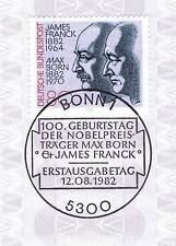 BRD 1982: James Franck y max born! nº 1147 con bonner sello especial! 1a! 154