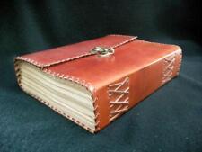 Large Handmade Journal en Cuir Carnet de croquis-Cartouche Art Paper-Brass Catch