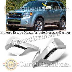 FOR FORD ESCAPE MAZDA TRIBUTE MERCURY MARINER CHROME SIDE MIRROR FULL COVERS