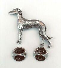 Greyhound Badge Pin English Pewter, Gift Box Option - Greyhound Gifts Presents
