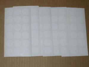 522 BLANK GARAGE YARD SALE RUMMAGE STICKERS PRICE LABELS WHITE C/MY OTHER ITEMS