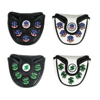 Golf Mallet Headcover Center Putter Covers Protectors with Magnetic Closure
