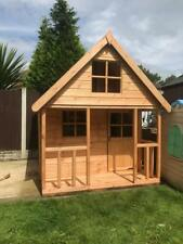 Wooden 6x6 Outdoor Childrens Playhouse - FULLY T&G - Wendy House Kids Timber Den
