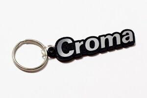 Fiat Croma Keyring - Brushed Chrome Effect Classic Car Keytag / Keyfob