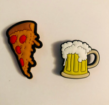 Pizza & Beer Retro Shoe Charm Set