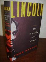 Signed X2 1st Edition Lincoln Fred Kaplan Biography 5th Printing History