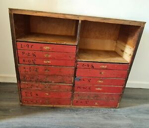 Vintage Engineers Drawer Tool Chest Tool Box for restoration