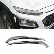 Front Head Lamp Eye Line Carbon Decal Sticker for 2018 Hyundai Kona