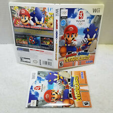 Mario & Sonic at the Olympic Games WII CASE AND MANUAL ONLY NO GAME FREE SHIP