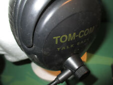 TOM COM 6 x 1 muff head sets and 6 x  BP1 one  channel belt packs package 4pin