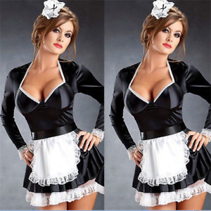 Naughty French Maid waitress fancy dress servant Beer wench girl Outfit M--4XL