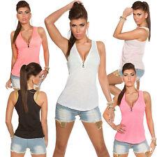 Ärmellose Hüftlang Damenblusen,-Tops & -Shirts mit V-Ausschnitt für Party