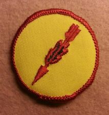 BSA  PATROL MEDALLION PATCH - FLAMING ARROW - 1972 - 1989  - PRE-OWNED  A00296