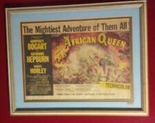 The African Queen original movie poster framed sheet 1952 Humphrey Bogart