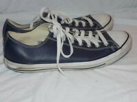 Converse Chuck Taylor All Star Low Navy Blue Leather Shoes 10