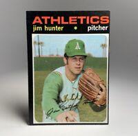 1971 Topps Jim Catfish Hunter Athletics #45 NM OC HOFer