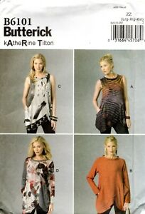 Butterick Sewing Pattern B6101 Katherine Tilton Misses Tunic Size Lrg-Xxl