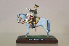 BRITAINS DUCAL RE PAINTED MOUNTED 20th HUSSARS DRUM HORSE nv