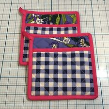 (2) CHARMING CHARLIE Garden Gingham Pot Holders - NEW - Kitchen - MOTHER'S DAY